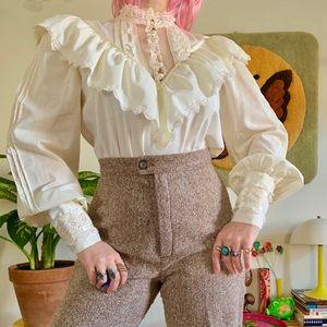 Vintage 70s Gunne Sax Victorian blouse M/L